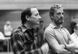 Orchestrator Jonathan Tunick and Stephen Sondheim