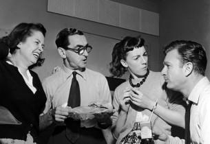 Mary McCarty, Irving Berlin, Allyn McLerie and Eddie Albert