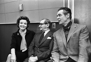 Nanette Fabray, Irving Berlin and Robert Ryan