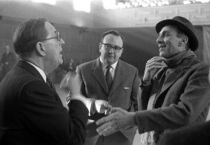 Stanley Holloway, unidentified, Goddard Lieberson (Photo: Seed)