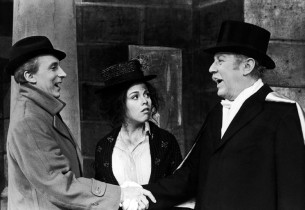 Ian Richardson, Christine Andreas and Robert Coote (