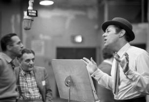Goddard Lieberson, Frederick Loewe, and Rex Harrison