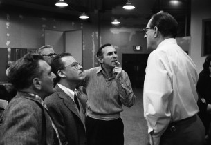 Frederick Loewe, Alan Jay Lerner, Goddard Lieberson and Stanley Holloway