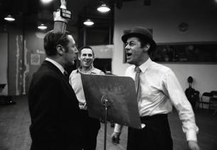 Robert Coote, Goddard Lieberson, and Rex Harrison