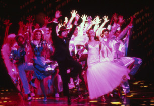 """Manhattan"": Tim Curry and Ensemble (Photo: Joan Marcus)"
