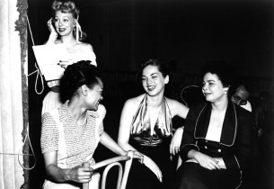 Virginia de Luce, Eartha Kitt, Rosemary O'Reilly and Patricia Hammerlee