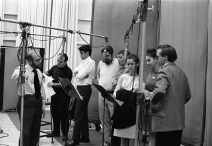 Record producer Ed Kleban, Art Wallace, John Bennett Perry, David Sabin, Steve S
