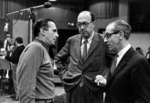 Goddard Lieberson with the show's creators, Jay Livingston and Ray Evans (Photo: