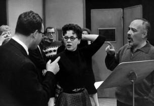 Jay Blackton, Eileen Rodgers and Edward Platt (Photo: Guy Gillette)