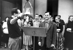 Engineer Fred Plaut and Tony Randall (Photo: Guy Gillette)