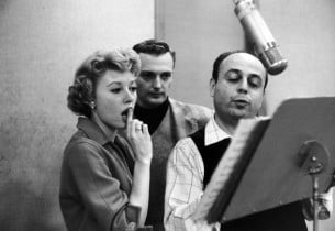 Jack Cassidy and Barbara Ruick studying the vocals for