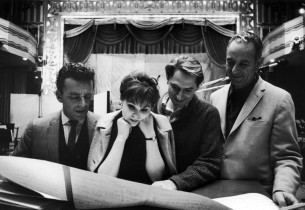 Alan Jay Lerner, Barbara Harris, John Cullum and Burton Lane