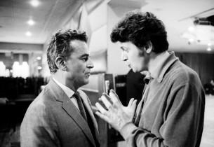 Alan Jay Lerner and Clifford David (Photo: Henri Dauman)