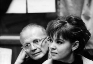 Record Producer George Marek and Barbara Harris (Photo: Henri Dauman)