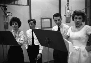 Betty Comden, Adolph Green, Cris Alexander and Nancy Walker.