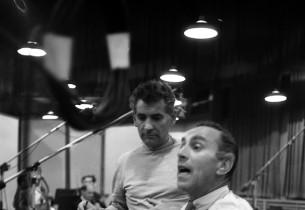 Leonard Bernstein and Goddard Lieberson