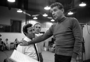 Adolph Green, Goddard Lieberson and Leonard Bernstein