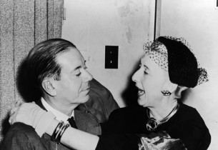composer Cole Porter with the show star, Charlotte Greenwood