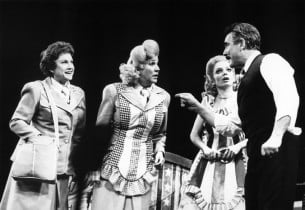Maxene Andrews, Patty Andrews, April Shawhan, Douglass Watson (Photo: Friedman-Abeles)