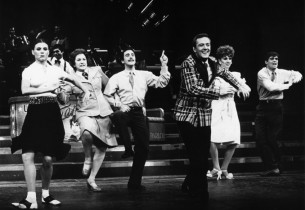 Ann Reinking, Maxene Andrews, John Mineo, Jim Weston, Marilu Henner and Treat Wi