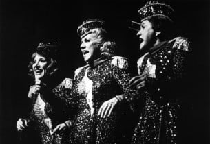 """Janie Sell, Patty Andrews and Maxene Andrews sing """"The Big Beat"""""""