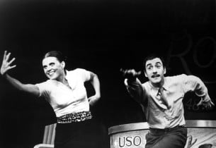 Ann Reinking and John Mineo heat up the stage in a dance number