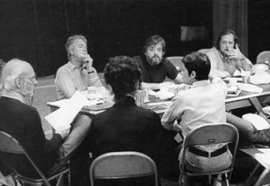 Stephen Sondheim during rehearsal (Photo: Martha Swope)