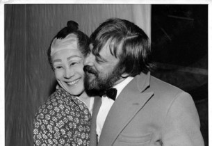 Isao Sato and Stephen Sondheim (Photo: Martha Swope)