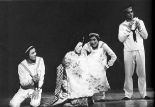 """Pretty Lady"" : from l. to r., Patrick Kinser-lau, Freddy Mao, Timm Fujii and Ma"