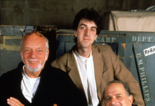 Producer Hal Prince, composer Jason Robert Brown, and author Alfred Uhry