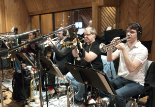 Brass section from the Promises, Promises Orchestra (Photo: Jimmy Asnes)