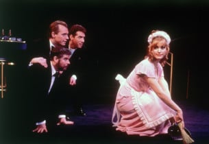 Stephen Collins, Michael Rupert and Christopher Durang with Rachel York