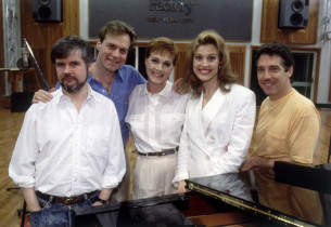 The cast in the studio  (Photo by: Joan Marcus)