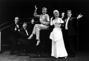 Stephen Collins, Christopher Durang, Julie Andrews, Rachel York and Michael Rupe