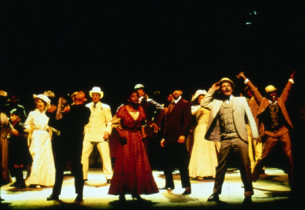 The cast with Audra McDonald and Brian Stokes Mitchell