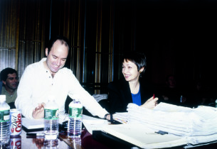 the show's creators, composer Stephen Flaherty and lyricist Lynn Ahrens