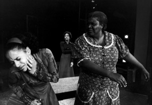 Debbie Allen, Ernestine Jackson, and Virginia Capers in a scene from the show