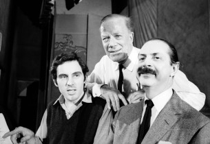 Anthony Newley, Cyril Ritchard, and Producer David Merrick