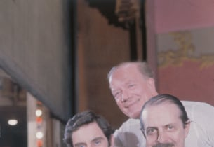 Anthony Newley, Cyril Ritchard and show producer David Merrick
