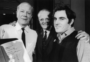 Cyril Ritchard, George Marek and Anthony Newley