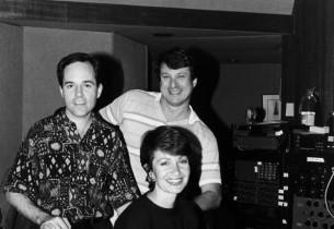 Composer Stephen Flaherty, lyricist Lynn Ahrens, and record producer Jay David S