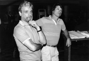 Stephen Sondheim & record producer Jay David Saks