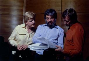 Angela Lansbury, Stephen Sondheim and Len Cariou