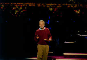 Stephen Sondheim during the rehearsals