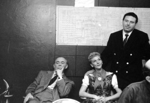 Richard Rodgers, Mary Martin and Theodore Bikel.