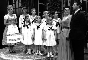 From left: Maria (Mary Martin), the children, Baroness Elsa Schraeder (Marion Ma