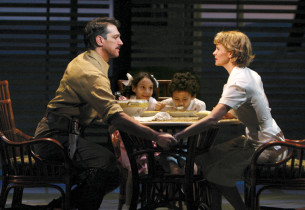 Left to right: Paulo Szot, Laurissa Romain, Luka Kain, Kelli O'Hara (Photo: Joan
