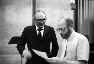 Giorgio Tozzi and record producer Ed Kleban (Photo: Don Hunstein)