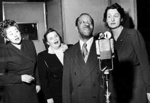 Ellen Repp, Marie Leidal, lyricist Langston Hughes, Hope Emerson