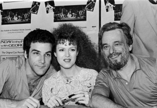 Mandy Patinkin, Bernadette Peters and composer Stephen Sondheim